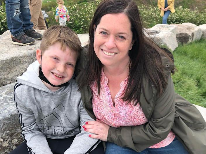 Cari Gelber and her son Jenny Powers