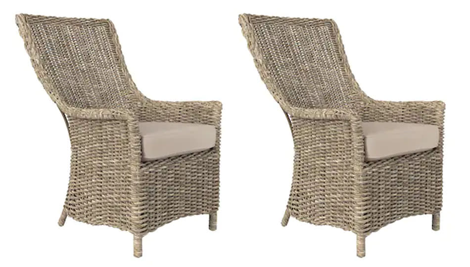 These all-weather chairs are a budget-friendly addition to your outdoor space. (Photo: Lowe's)