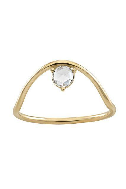 """<p><strong>Wwake</strong> Sloped Arc Rose Cut Diamond Ring, $1,191, available at <a href=""""http://wwake.com/products/sloped-arc-rosecut-diamond-ring"""" rel=""""nofollow noopener"""" target=""""_blank"""" data-ylk=""""slk:Wwake"""" class=""""link rapid-noclick-resp"""">Wwake</a>.</p>"""
