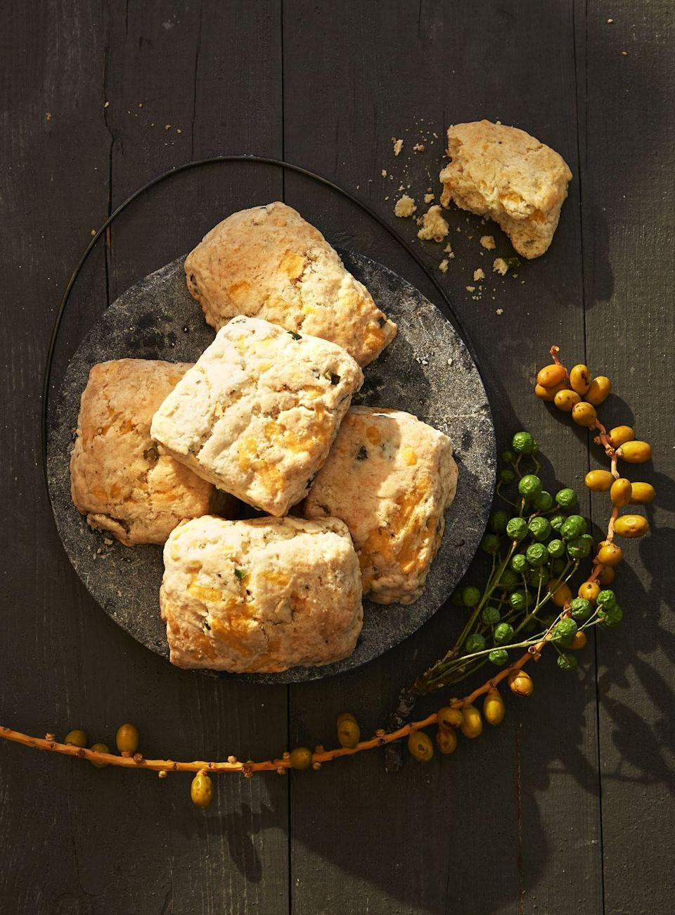 "<p>Once you've mastered the classic, try this melt-in-your-mouth cheddar variety. </p><p><em><a href=""https://www.goodhousekeeping.com/food-recipes/a41104/fluffy-apple-cheddar-biscuits-recipe/"" rel=""nofollow noopener"" target=""_blank"" data-ylk=""slk:Get the recipe for Fluffy Apple-Cheddar Biscuits »"" class=""link rapid-noclick-resp"">Get the recipe for Fluffy Apple-Cheddar Biscuits »</a></em></p>"