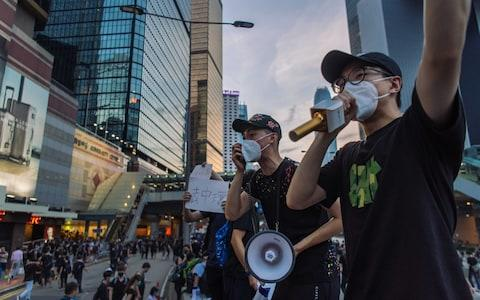 Hundreds of thousands of protesters participant in anti-extradition bill march in Hong Kong on July 21, 2019 in Hong Kong - Credit: Getty