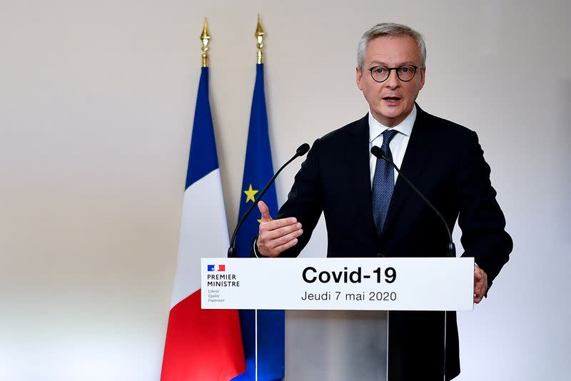 French crisis measures have cost 450 bln euros, finance minister says