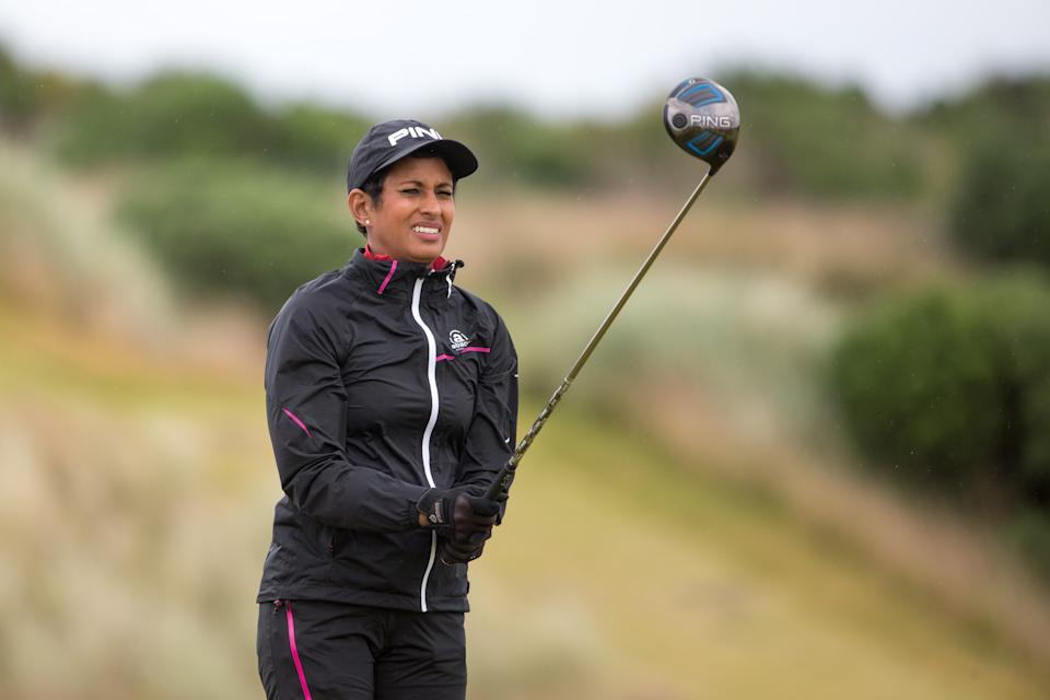 BBC Breakfast news presenter Naga Munchetty during the Pro-Am of the 2016 AAM Scottish Open, Inverness.