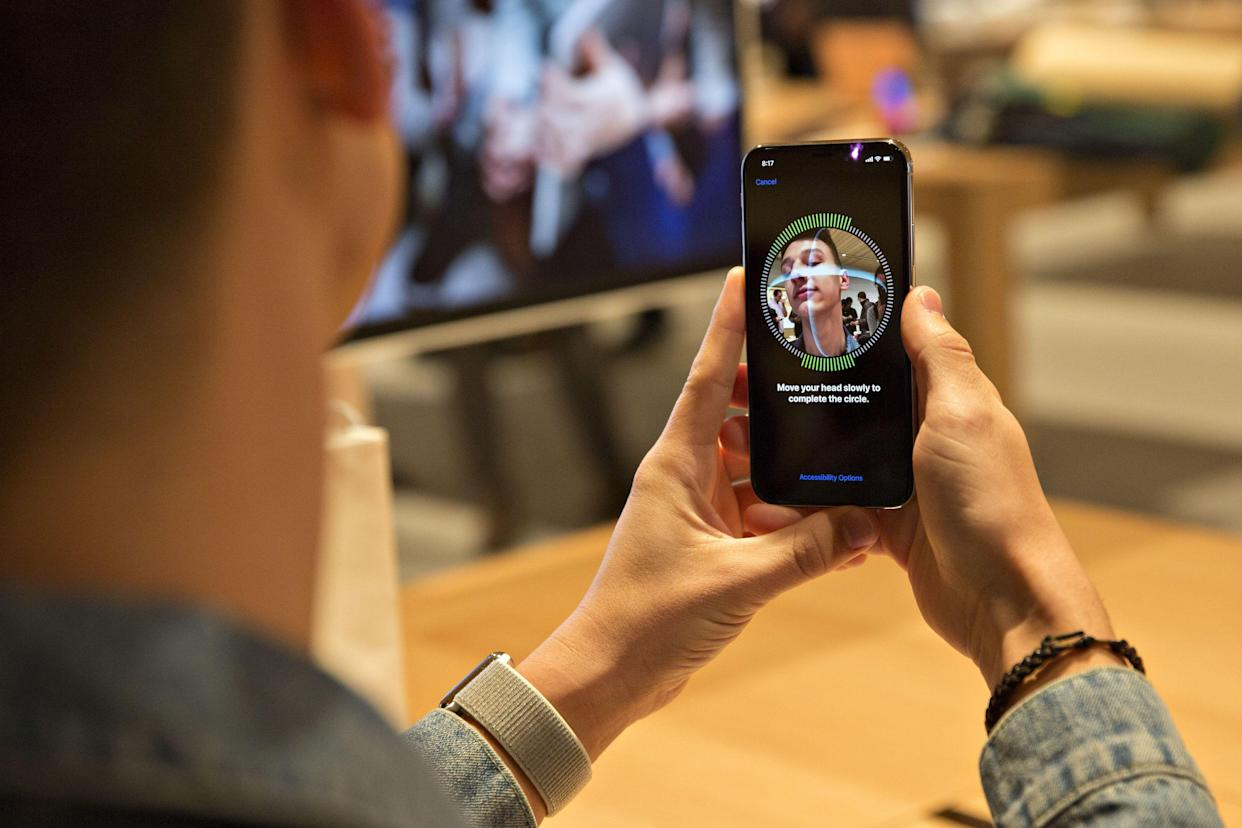The iPhone's Face ID is far different from the technology used by law enforcement, but still falls under the category of facial recognition. (Image: Daniel Acker/Bloomberg via Getty Images)
