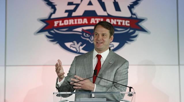 """<p>The Florida Atlantic University football program has had little success since its inaugural season in 2001. FAU hasn't played in a bowl game since 2008, and the last time they had a .500 record was in 2013. The Owls finished 3–9 in each of their last three seasons, which prompted the school to fire former head coach Charlie Partridge.</p><p>In an attempt to revitalize the program, FAU made a blockbuster hire when they brought in Lane Kiffin to be the Owls' next coach. Last year, Kiffin was the offensive coordinator at Alabama. He previously was head coach at Tennessee and USC, and for the Oakland Raiders in the NFL. Now he will attempt to make the jump from an SEC powerhouse to a mid-major program.</p><p>""""The leadership here, starting with the president,"""" Kiffin said when asked about what attracted him to FAU. """"So when I was in the interview process, the president was in there and he was very dedicated to building a championship program. He came from Clemson so he'd seen when they started really winning there the impact that it had on the whole university, and so he saw that and he wanted to do something like that here.""""</p><p>Another draw of FAU is the state's penchant for producing top prospects. Kiffin is known as an aggressive recruiter since his days as an assistant coach. The 24 players Kiffin brought in on his first national signing day with FAU <a href=""""http://www.sun-sentinel.com/sports/fau-owls/fl-fau-kiffin-0202-20170201-story.html"""" rel=""""nofollow noopener"""" target=""""_blank"""" data-ylk=""""slk:ranked best in the conference"""" class=""""link rapid-noclick-resp"""">ranked best in the conference</a> according to at least one recruiting service. He reportedly even <a href=""""https://www.sbnation.com/college-football-recruiting/2017/5/15/15643796/lane-kiffin-fau-recruited-three-middle-school-prospects"""" rel=""""nofollow noopener"""" target=""""_blank"""" data-ylk=""""slk:offered scholarships to kids not even yet in high school"""" class=""""link rapid-noclick-resp"""">offered scholarships to kids no"""