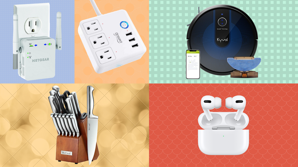 Pick a box, any box and score up to 60 percent off top-rated Apple AirPods Pro, smart home power strip, robot vacuums and more. (Photo: Amazon)