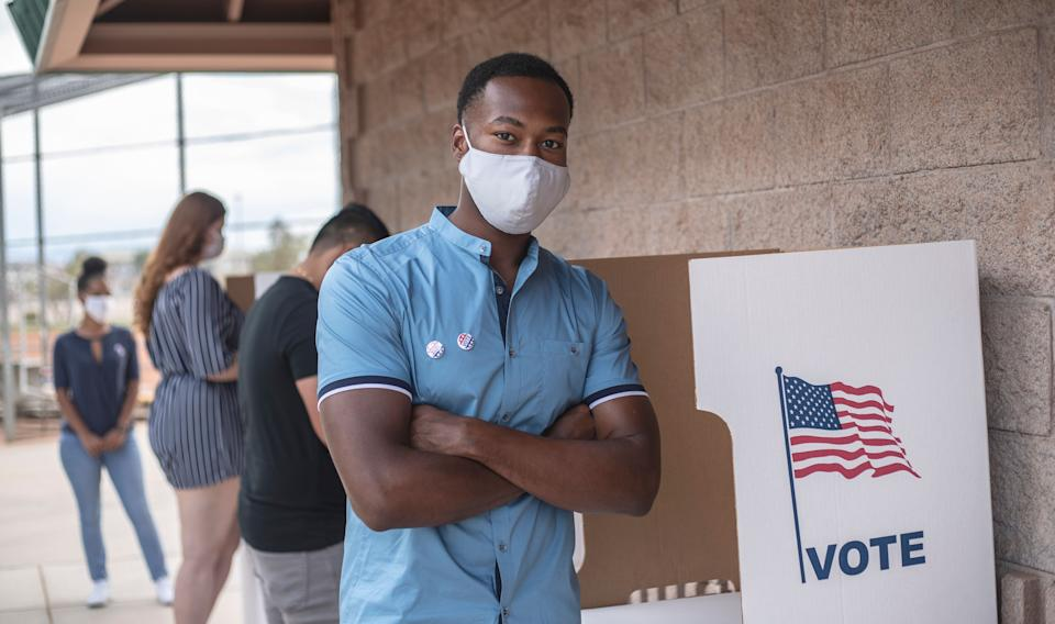 Taking some basic precautions can make voting a safer experience. (Photo: LPETTET via Getty Images)