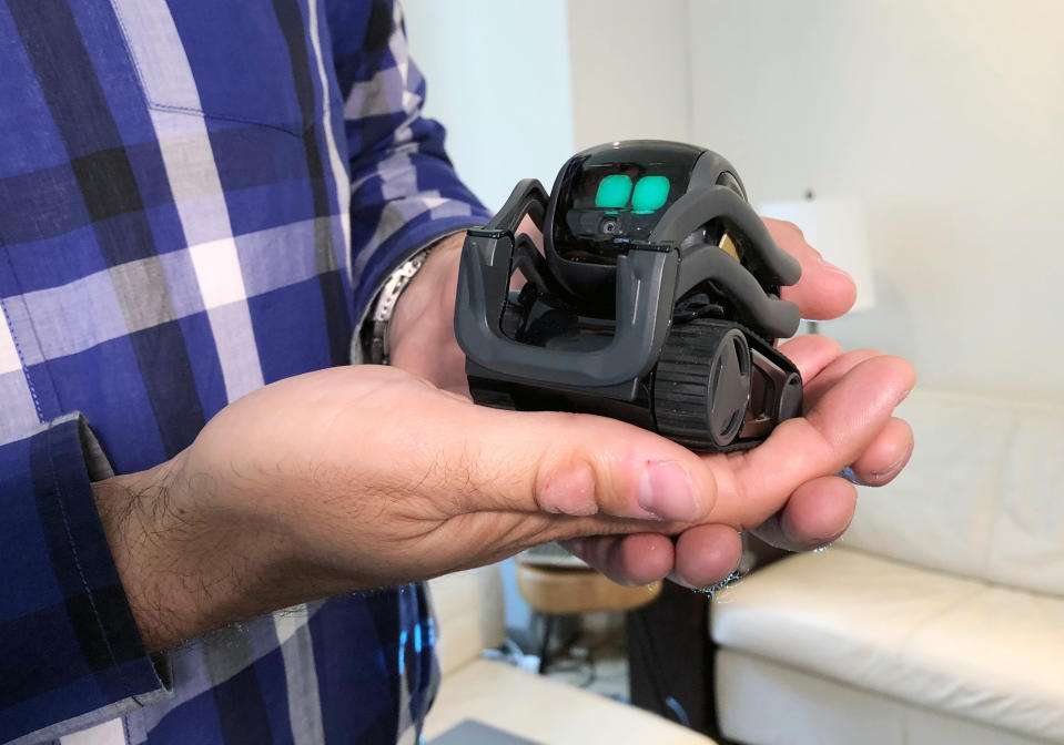 <p> In this Monday, July 30, 2018, photo, Anki Inc. CEO Boris Sofman holds Vector, the company's new home robot, in New York. The wheeled robot is designed as a successor to the San Francisco company's toy robot, Cozmo, which was introduced in 2016. (AP Photo/Ted Shaffrey) </p>