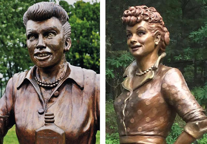 New Lucille Ball statue replaces 'Scary Lucy'