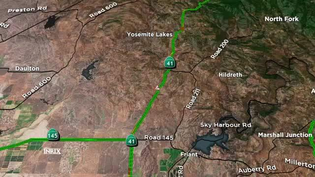 TRAFFIC ALERT: During the crash, a fuel tanker's gas tank was punctured, causing 30 gallons of fuel to spill on the roadway, according to California Highway Patrol.