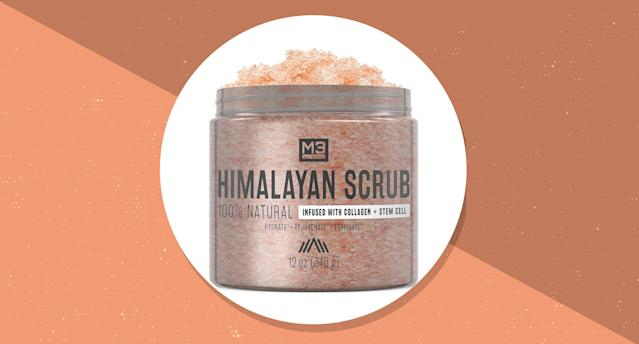 Nearly 2,500 reviewers can't get enough of this pink salt scrub. (Photo: Amazon)