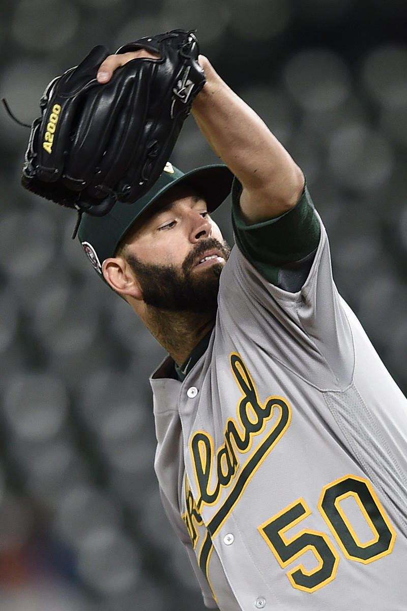db96c6d6 Fiers stays unbeaten with Oakland, A's top Orioles 3-2