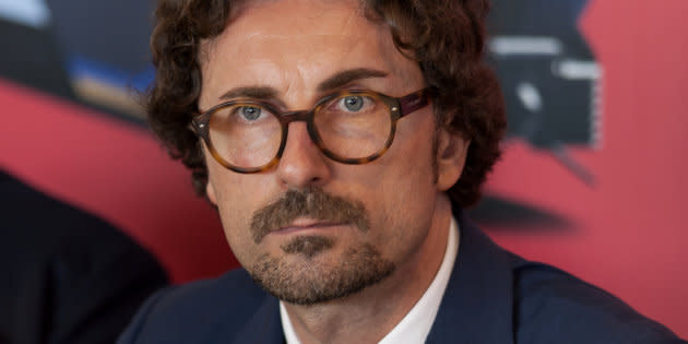 ROME, ITALY - JUNE 22: Danilo Toninelli, Minister of Infrastructure and Transport, during the press conference for the presentation of the Trenitalia - Lazio Region Service Contract for the direct award of regional transport, in return for the commitment to make investments of almost 1.4 billion euros on June 22, 2018 in Rome, Italy. (Photo by Stefano Montesi - Corbis/Getty Images)
