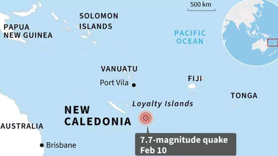 Tsunami warning sounded after 7.7 magnitude earthquake jolts South Pacific