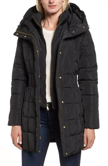<p><span>Cole Haan Hooded Down &amp; Feather Jacket</span> ($84, originally $225)</p>
