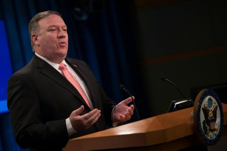 "Top US diplomat Mike Pompeo has previously said the killing of Jamal Khashoggi ""violates the norms of international law"""