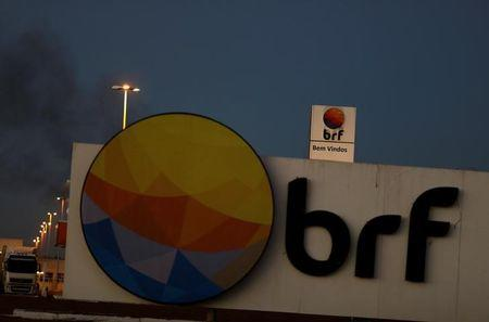 Meatpacking company BRF SA's logo is pictured in Lucas do Rio Verde