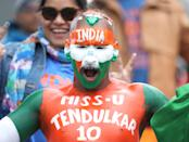 Fan showing support for legendary Indian cricket Sachin Tendulkar (Photo by Martin Rickett/PA Images via Getty Images)
