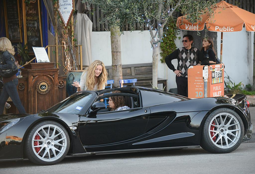<strong>Steven Tyler </strong><br /><strong>Hennessey Venom GT Spyder convertible </strong><br /><strong>Approximate Base Price: $1.1 million</strong><br />Those valet attendants better be careful! Steven Tyler recently pulled up to a West Hollywood, California, restaurant and turned over the keys to his $1.1 million Hennessey Venom GT Spyder convertible. Not sure if they tested it out or not, but this baby can go from 0 to 60 mph in 15 seconds.