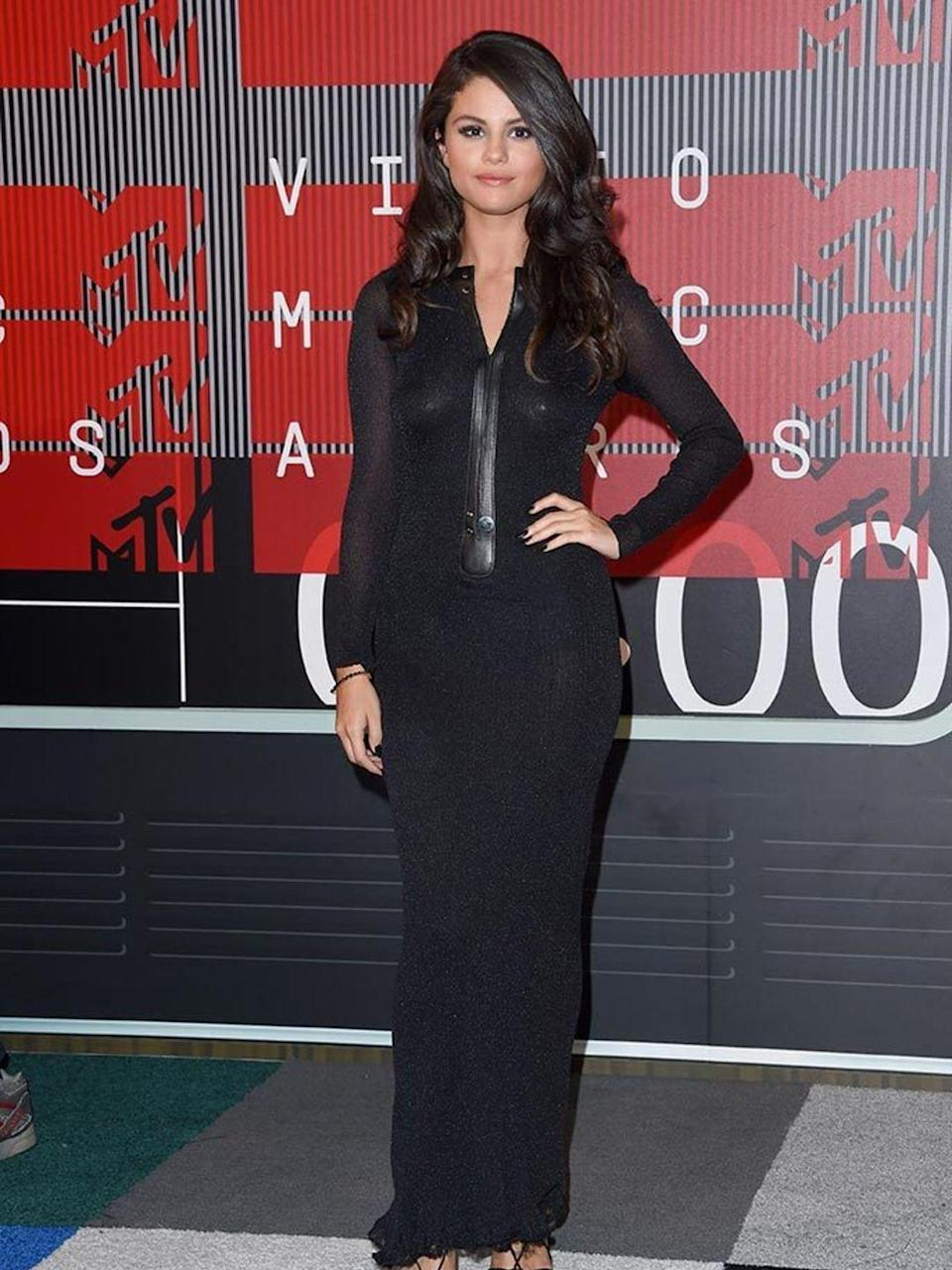 <p>Selena Gomez at the MTV Video Music awards in LA, August 2015.</p>