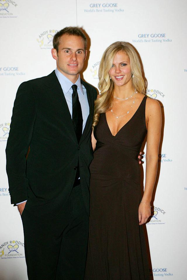 """Pro tennis player Andy Roddick scored a love match with <i>Sports Illustrated</i> swimsuit model Brooklyn Decker when the couple wed in April 2009. Jay West/<a href=""""http://www.wireimage.com"""" target=""""new"""">WireImage.com</a> - November 30, 2009"""