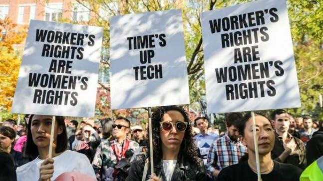 The two Google employees, Claire Stapleton and Meredith Whittaker, are organising a retaliation townhall on Friday to discuss their stories of retaliation.