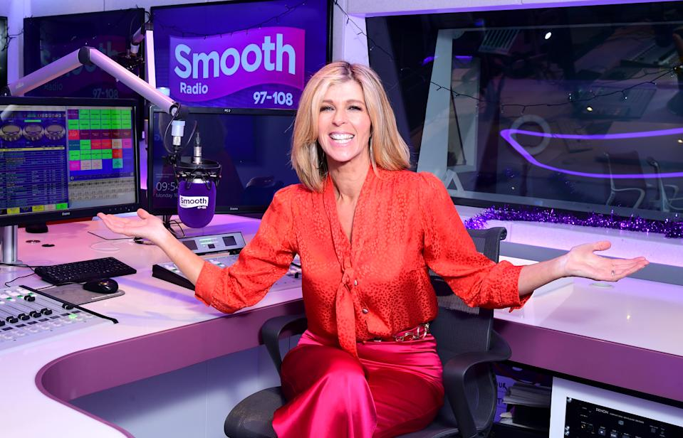 Kate Garraway returns to the Smooth Radio studio in London to present her first national show since her time in the jungle on I'm A Celebrity... Get Me Out Of Here!. (Photo by Ian West/PA Images via Getty Images)