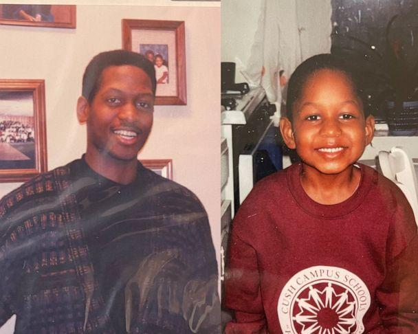 PHOTO: Shawn Powell pictured alongside a photograph of his son Joshua Powell. (Powell family)
