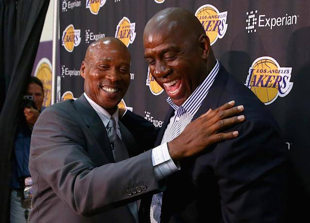 Magic Johnson: 'If I don't see another 3-pointer from a Laker team, I'll be happy.'