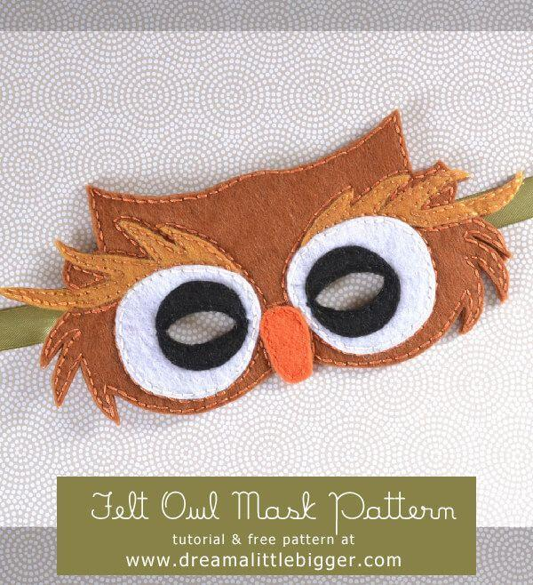 """<p>This handmade hit will have your kid hooting with joy. It's a felt design that's affordable <em>and </em>adorable. </p><p><strong>Get the tutorial at </strong><strong><a href=""""http://www.dreamalittlebigger.com/post/owl-mask-tutorial.html"""" rel=""""nofollow noopener"""" target=""""_blank"""" data-ylk=""""slk:Dream A Little Bigger"""" class=""""link rapid-noclick-resp"""">Dream A Little Bigger</a>.</strong></p>"""