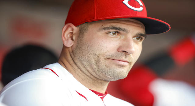 Joey Votto was born in Canada, but he really doesn't care too much about being Canadian. (Photo by Michael Hickey/Getty Images)