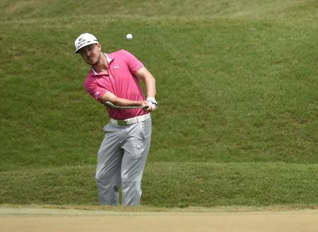 May 15, 2016; Ponte Vedra Beach, FL, USA; Jonas Blixt chips onto the 2nd green during the final round of the 2016 Players Championship golf tournament at TPC Sawgrass - Stadium Course. Mandatory Credit: John David Mercer-USA TODAY Sports / Reuters Picture Supplied by Action Images