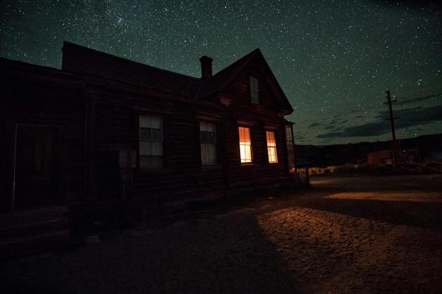 "<p>""It's hard to imagine how beautiful the town is with the Milky Way visible overhead."" (Photo: Matthew Christopher — Abandoned America/Caters News) </p>"