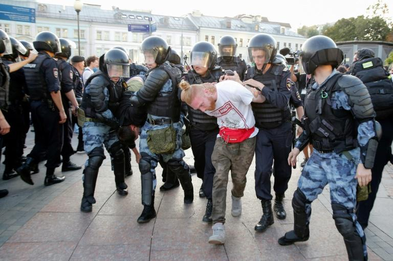Over 2,000 protesters were arrested at two unauthorised rallies over the past two weeks