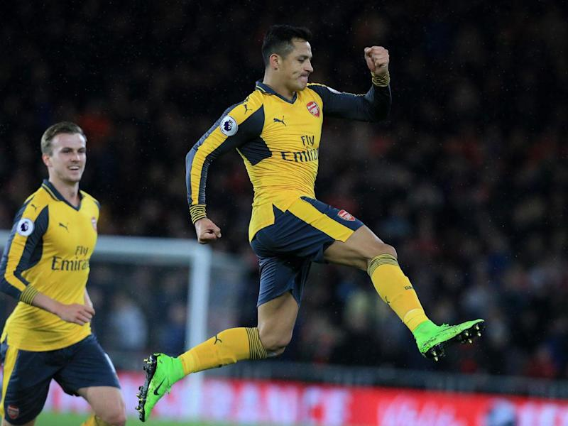 Sanchez celebrates his goal (Getty)