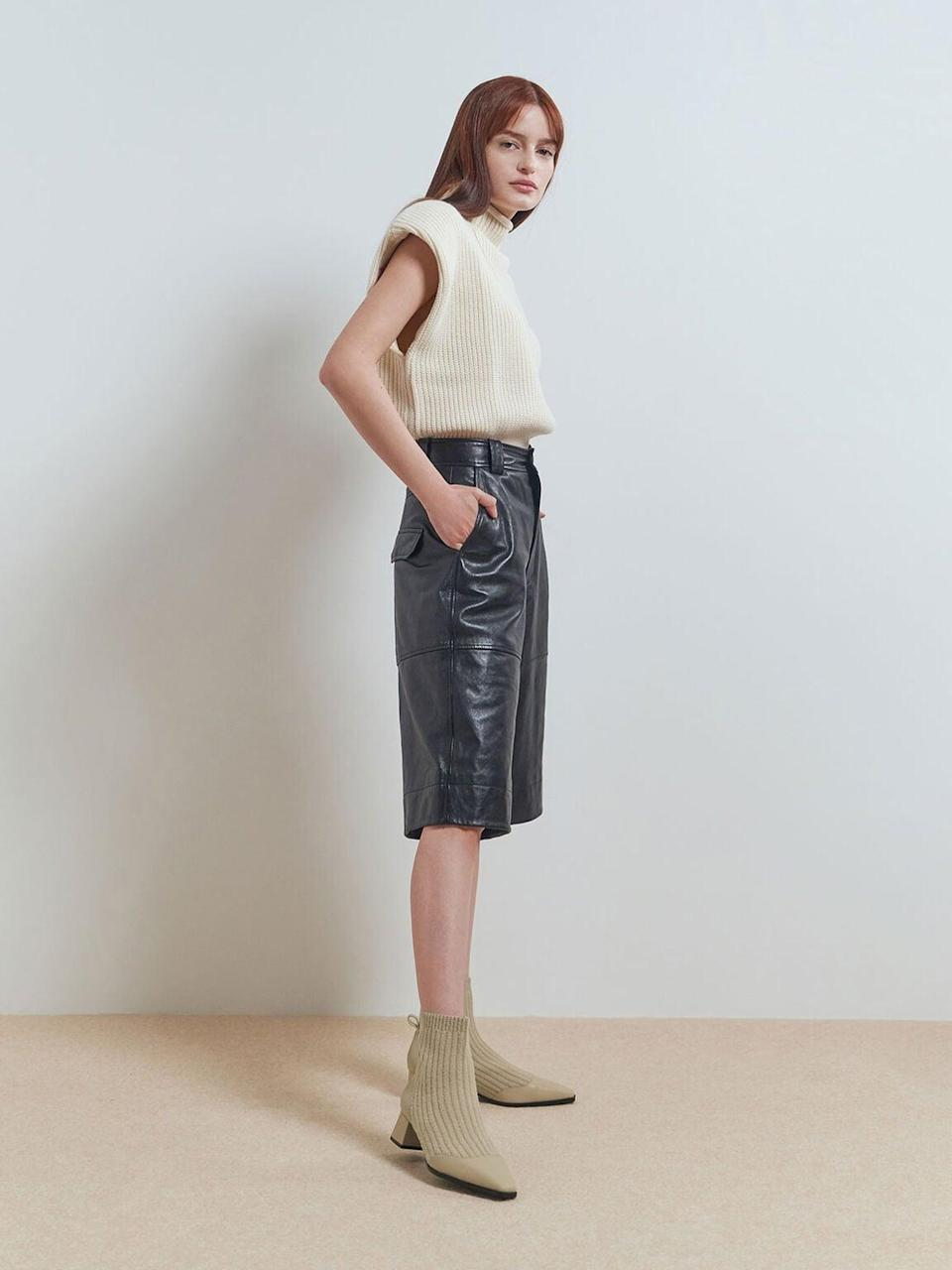 <p>Perhaps the sleekest style we'll see in 2021 is a heeled boot, whether low or high, that comes in neutral earth tones. Whether you prefer a pointed, square, or rounded toe, you can think of these as the antidote to the little white boot or black ankle boot. Use them to cap off a denim moment or complement your outerwear, and don't shy away from texture (think croc effect, animal print, or pebbled leather).</p> <p><span>Charles &amp; Keith Beige Knit Ankle Sock Boots<br> </span> ($73)</p>