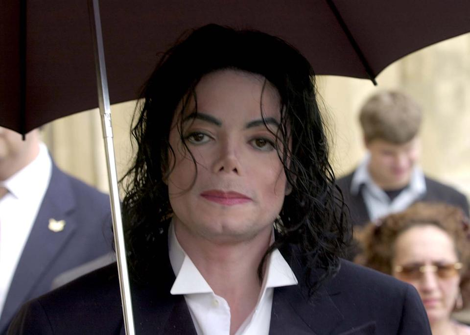 US singer Michael Jackson during a tour of the Houses of Parliament, in London.