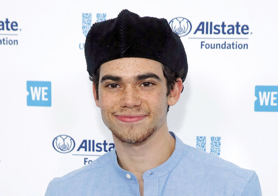 Disney actor Cameron Boyce pictured at an event in Inglewood, California in April. Boyce's caused of death has been revealed.
