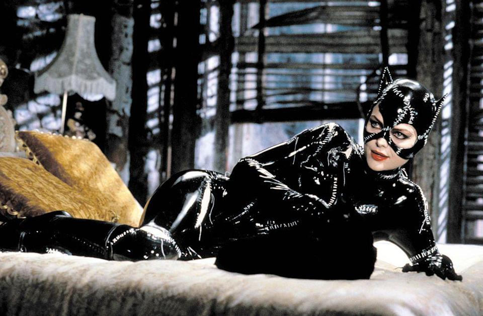 <p>Although one would think Michelle Pfeiffer's Catwoman footwear would play second fiddle to her latex cat suit, the knee-high stiletto boots completely enhanced the look. </p>