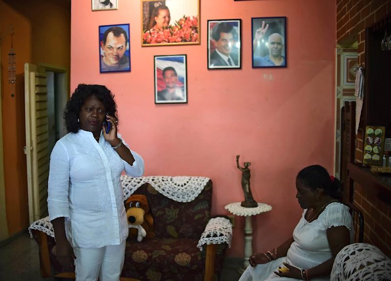 Cuban dissident and leader of the Human Rights organization Ladies in White, Berta Soler, in Havana, on November 27, 2016, two days after the death of Cuban revolutionary leader Fidel Castro
