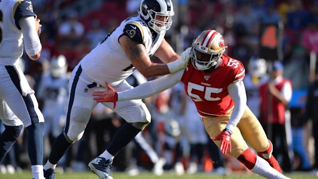 49ers will likely be without edge rusher Dee Ford against Packers