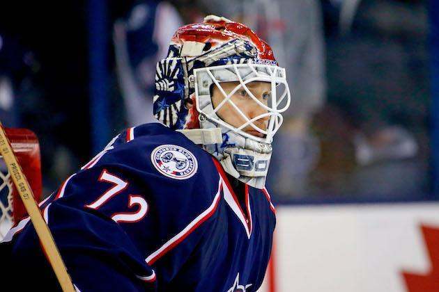 COLUMBUS, OH – DECEMBER 20: Sergei Bobrovsky #72 of the Columbus Blue Jackets warms up prior to the start of the game against the Los Angeles Kings on December 20, 2016 at Nationwide Arena in Columbus, Ohio. (Photo by Kirk Irwin/Getty Images)