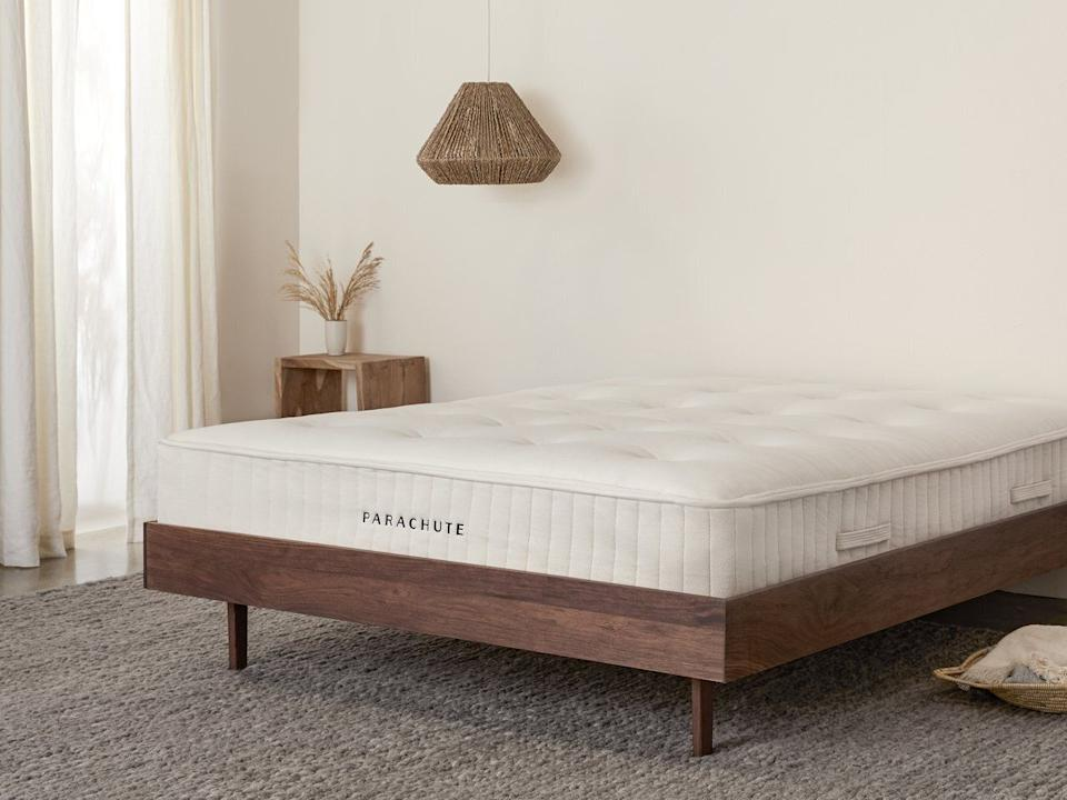 """This mattress is made oforganic cotton and features steel coils on the inside.<a href=""""https://fave.co/3fbQaHx"""" target=""""_blank"""" rel=""""noopener noreferrer"""">Originally $1899, get the queen-size now for 20% off at Parachute</a>."""