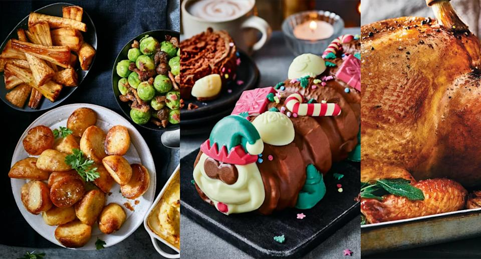 You can order your Christmas food shop now from M&S. (Marks & Spencer)