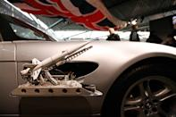 "A BMW Z8 from the James Bond film ""The World Is Not Enough"" is displayed at the opening of the ""Bond in Motion: 50 Vehicles 50 Years"" exhibition at the National Motor Museum in Beaulieu, southern England January 15, 2012. REUTERS/Suzanne Plunkett"