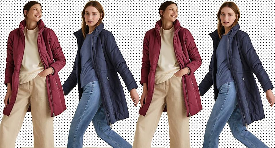 This £45 quilted M&S coat comes in five colours and is selling fast. (M&S)