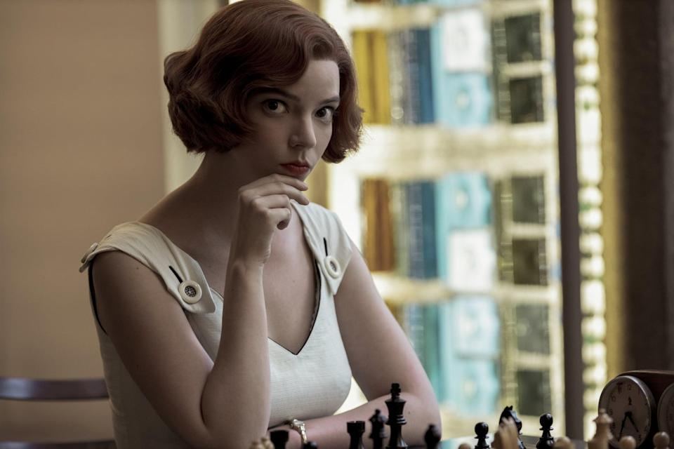 <p>To recreate Beth's signature red wavy bob hairstyle without picking up a single hot tool, you can get the <span>Beth Harmon Wig</span> ($28) from Amazon. </p>