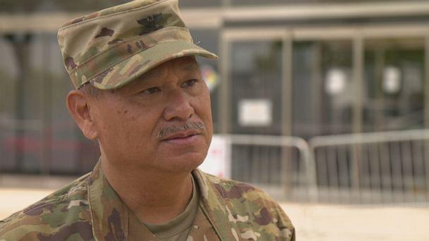 PHOTO: Army Colonel Edward Ramirez, who has 27 years of service and four deployments under his belt, never expected his next one to take him to New York City. (ABC)