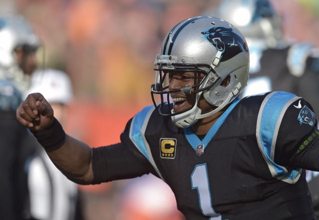 Carolina Panthers quarterback Cam Newton's 2018 season ended early due to a shoulder injury. (AP)
