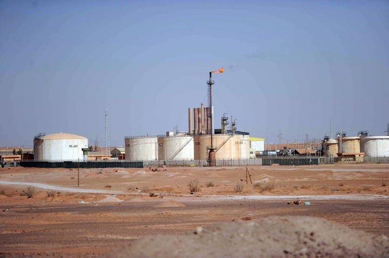 A general view of the oil installation on the outskirts of In Amenas, deep in the Sahara, on January 18, 2013 which has been under siege by Islamist militants since Wednesday. Islamist hostage-takers at a remote Algerian gas field on Friday demanded a prisoner swap and an end to the French military campaign in Mali, a report said